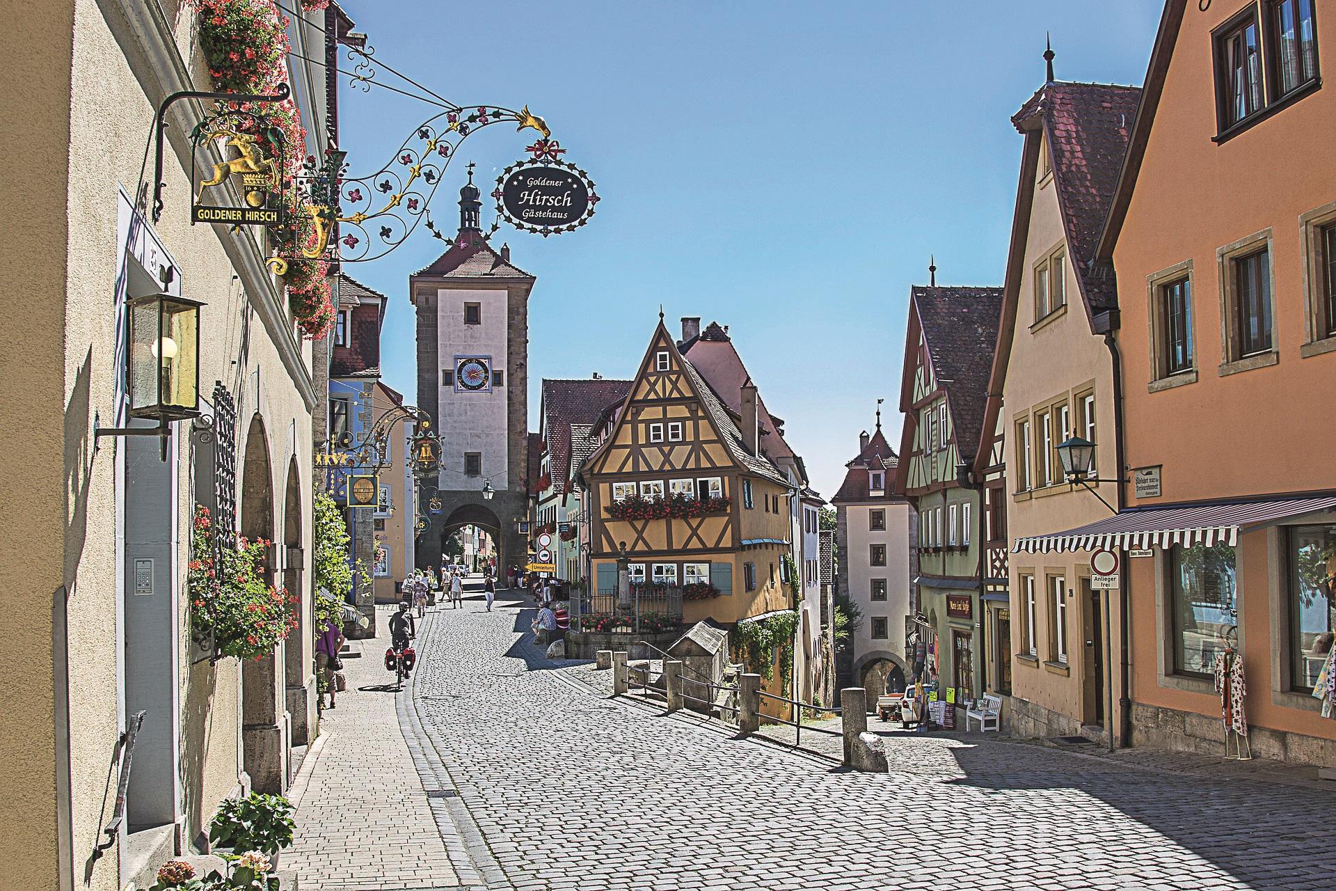 Rothenburg ob der Tauber bei der großen Deutschland-Tour
