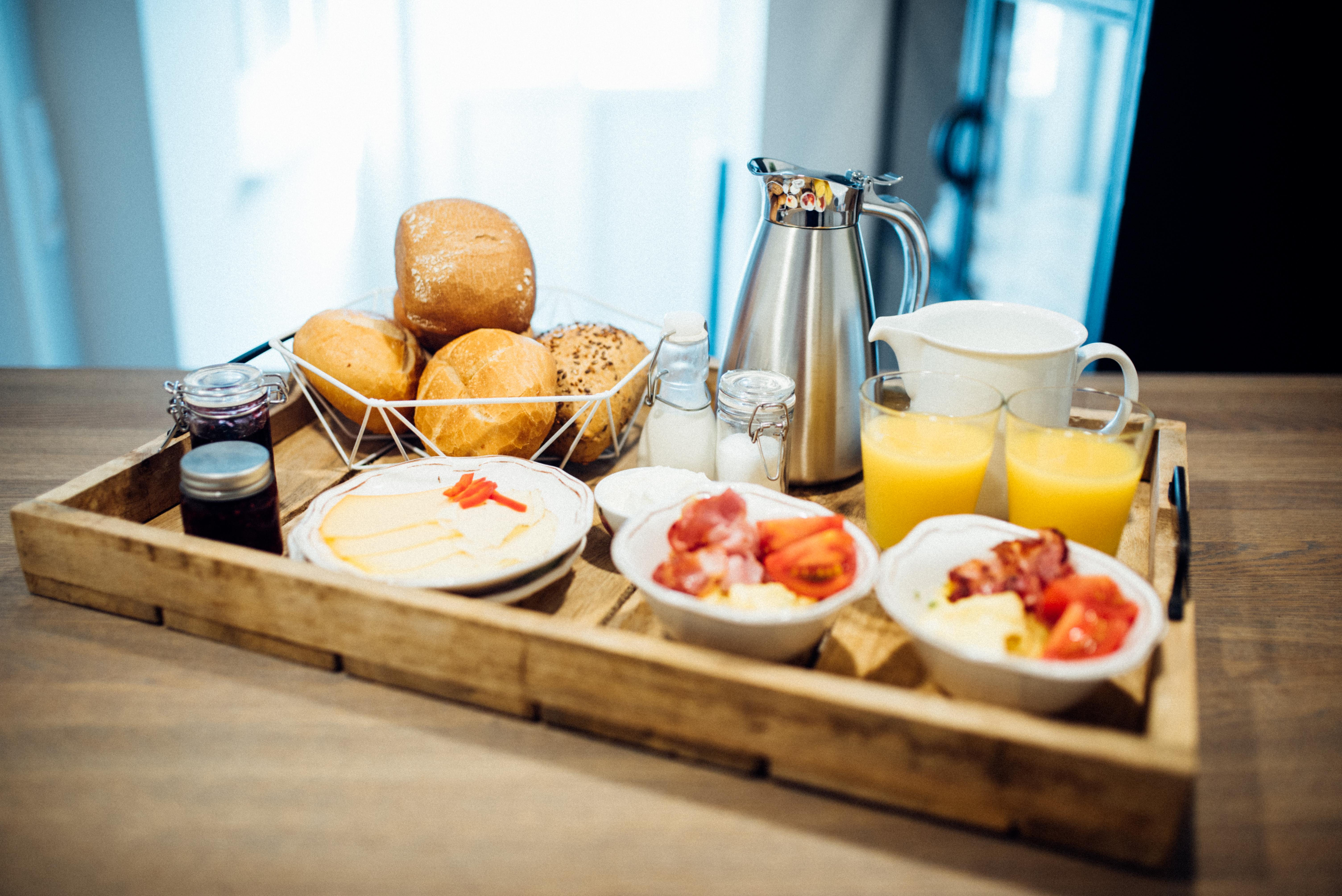 Frühstück in der Suite im Hotel Tweed
