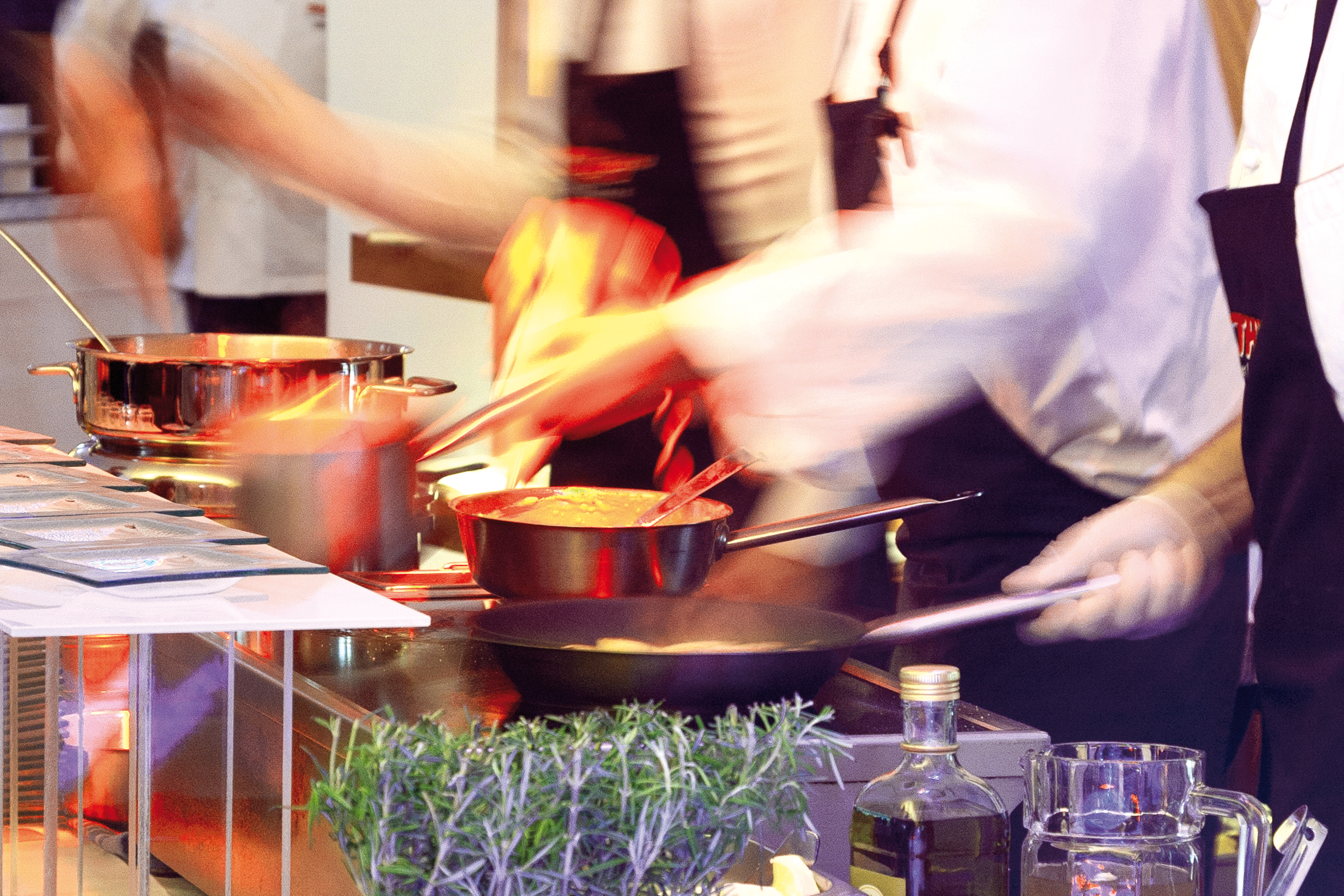 Live-Cooking bei ROTH Catering & Events