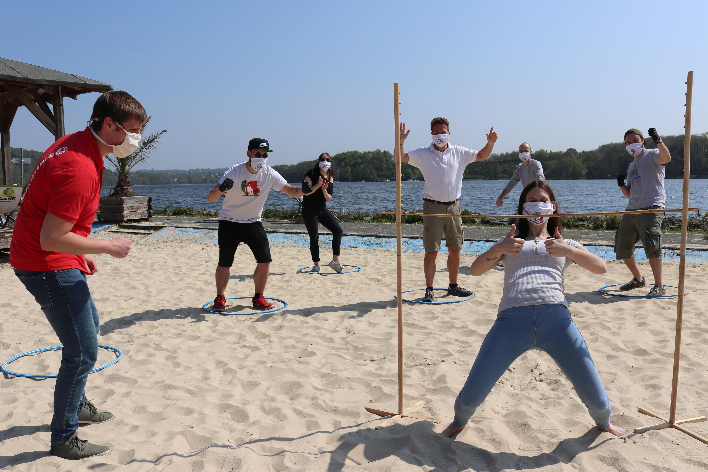 teamgeist Events mit Abstand Beachhallenge